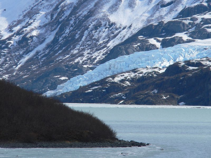 Downstream tip of Portage Glacier