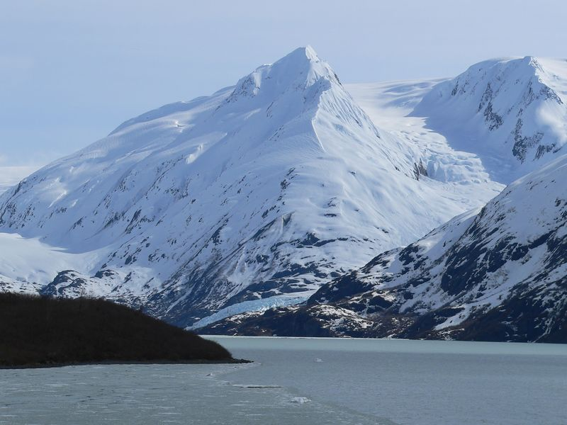Portage Glacier (middle and upper right portion of photo)