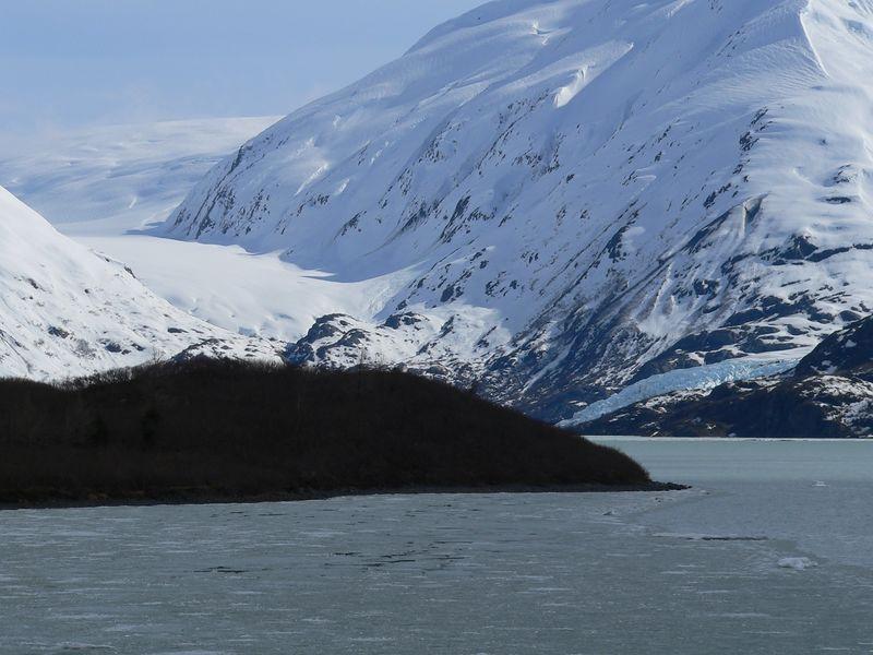 Burns Glacier (left half of photo)