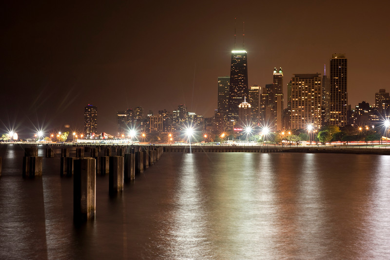 Night Skyline: Chicago