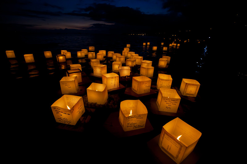 Hawaii lantern floating