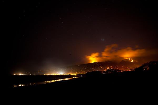 Maui wildfire, 2010.