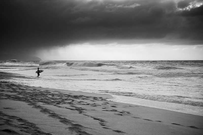 North Shore surfer, Oahu, Hawaii