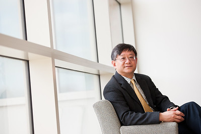 Xi-Cheng Zhang, director of the University of Rochester's Institute of Optics April 12, 2012. // photo by J. Adam Fenster / University of Rochester