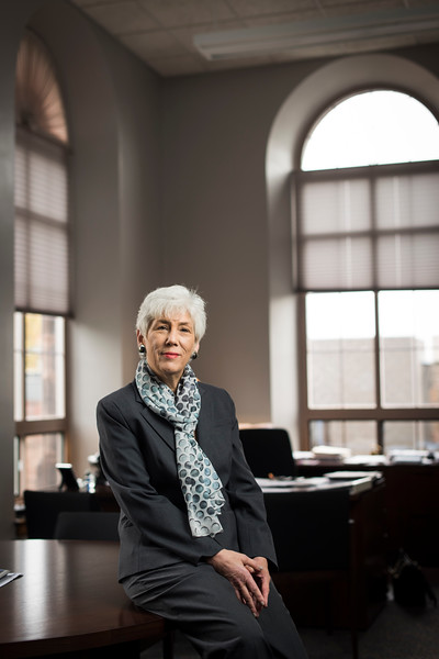 Fran Weisberg '75, new president and CEO of United Way of Greater Rochester, photographed in her office September 30, 2015.   // photo by J. Adam Fenster / University of Rochester
