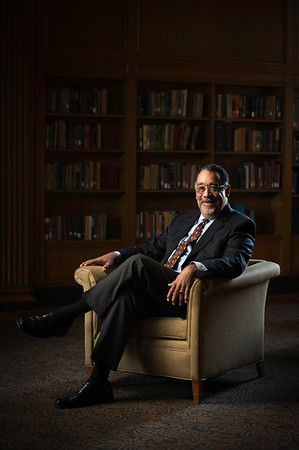Paul Burgett, University of Rochester Vice President and General Secretary, Senior Advisor to the President; Arts, Sciences, and Engineering is pictured in the Wells Brown Room, Rush Rhees Library September 15, 2014.  // photo by J. Adam Fenster / University of Rochester