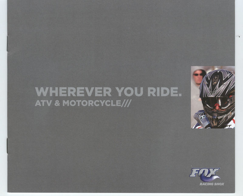 Fox Racing Shox 2005 catalog. Photo of John Natalie used on the front cover.
