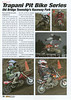 Mini Moto magazine. Issue #5 2006. Words and photos. This 2 page feature was an overview of the Trapani Pit Bike Series held at Raceway Park during the 2006 season. The article appeared on pages 76 and 77.