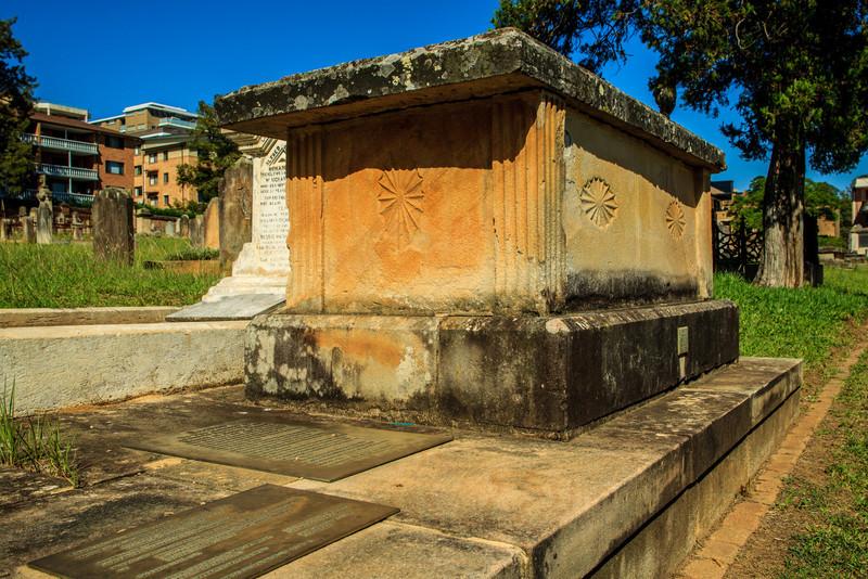 Grave (in St John's Cemetery) of Australia's first Surveyor-General, Augustus Theodore Harman Alt (1731 – 9 January 1815.