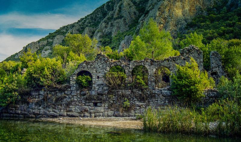 Olympos, Turkey<br /> The Roman bath in Olympos.