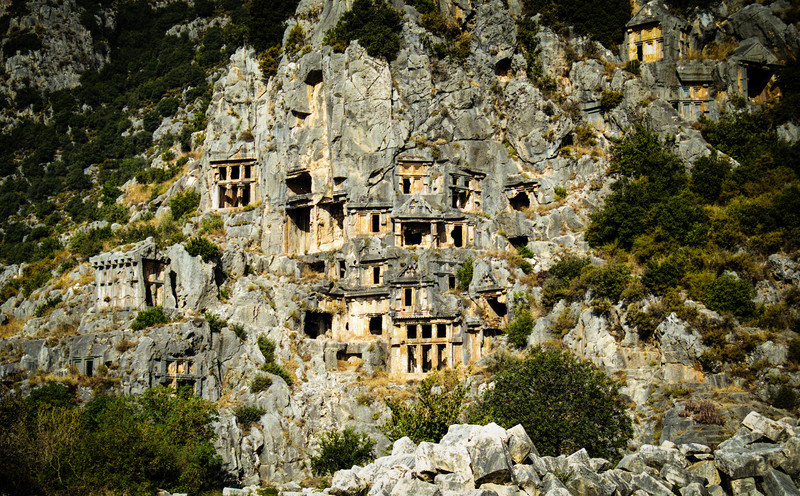 Kale, Turkey<br /> Lycian Rock Tombs.