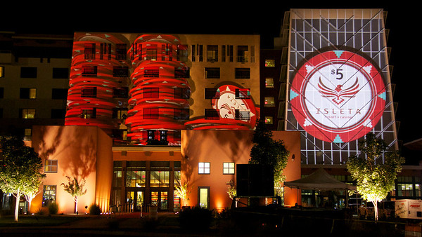 on media group 3d projection mapping isleta casino new mexico