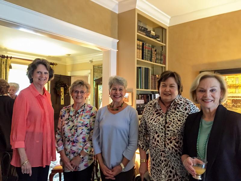 Betty Buntin Finucane,  Griffie Glasser Cook, Dianne Dixon Vaughn, Jan Patterson Eason, Ann Evans Peebles