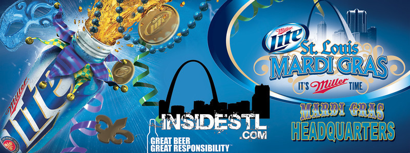 Often we had to collaborate with preexisting creative from clients.  This was a banner used to identify our Mardi Gras tent in soulard.  The Miller Lite creative was provided, then deconstructed to fit the banner dimensions, and then our branding was added.