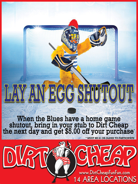 The Blues chicken in use.  These were in the restrooms above the urinals in Scottrade Center.