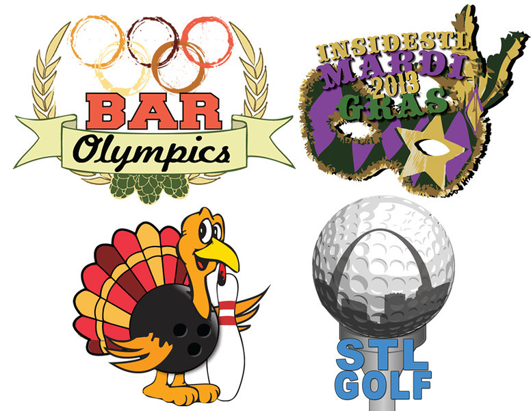 These are a sample of some logos that were made from scratch to promote different events for insideSTL.