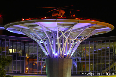 Baptist Hospital on the south bank.  Definitely the coolest life flight pad in the state.