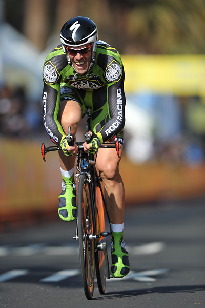 17 February 2008: Mario Cipollini of Italy during the Prologue Stage of the Amgen Tour of California at Stanford University in Palo Alto, CA.