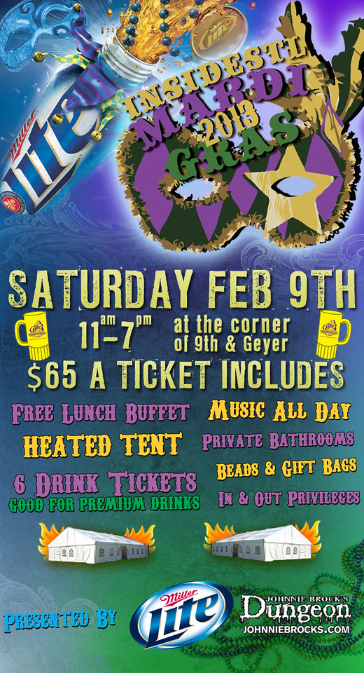 Placement of the Mardi Gras logo created for insideSTL.com