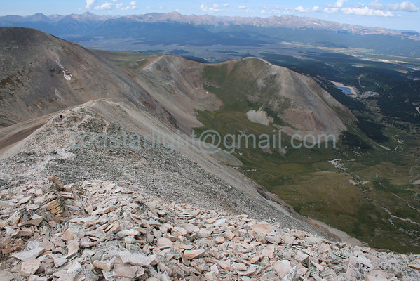 """Mt. Sherman summit looking southwest. Click here for more like this: <a href=""""http://coastarlight.smugmug.com/Nature/Colorado-14ers/6866209_hLE7a#439196100_zZ52p"""">http://coastarlight.smugmug.com/Nature/Colorado-14ers/6866209_hLE7a#439196100_zZ52p</a><br /> © Brandon Lingle"""