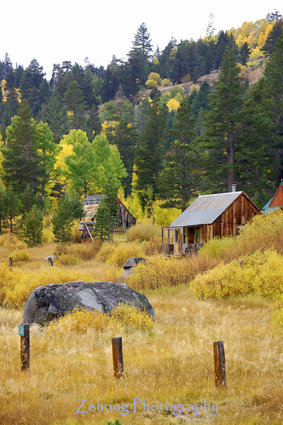 """This cabin is a popular backdrop for """"photobugs"""" coming to Hope Valley in the fall looking for that perfect shot.    So .... OK .... far from perfect  .... here's mine."""