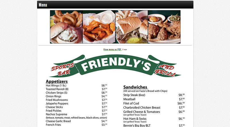 Friendly's menu items