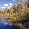 Alpine lake in the Sierra Buttes area of northern California.