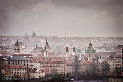 Rainy Praha  Prague, Czech Republic.