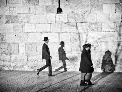 Walking Shadows  Old City, Jerusalem, Israel.