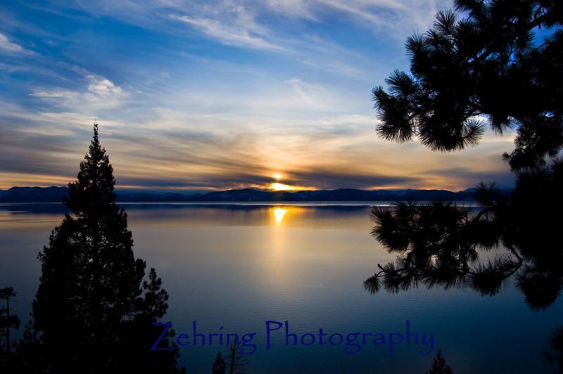 Sunset Lake Tahoe CA
