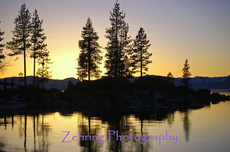 Sunset Sand Harbor, Lake Tahoe,NV.