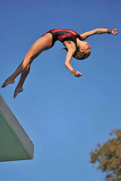 16 February 2008: Stanford Cardinal Shana Karp during Stanford's win against the California Golden Bears at the Avery Aquatic Center in Stanford, CA.