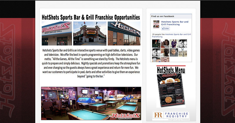 I have also done photos for HotShots Sports Bar and Grill.  In this case they needed interior and exterior shots of their locations as well as a few menu items.