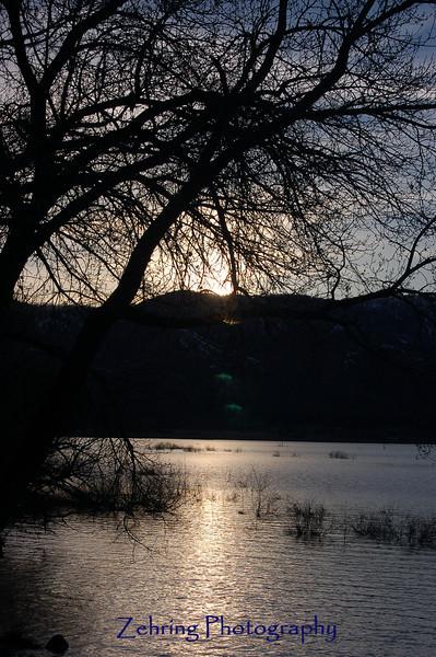 Sunset, Washoe Lake, NV.