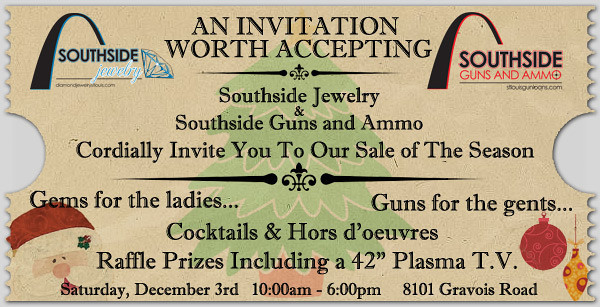 Majority of the time I am handed copy points and a theme, then run with them to create promotional material. This was an advertisement for South side Jewelry, and Guns and Ammo. I was given the company logos and copy points.  The client liked it so much, they ended up using it for print advertisement as well.