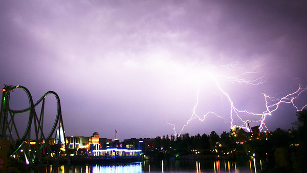 Picture of Lightning at Universal Studios Florida, at the Islands of Adventure, August 2005.