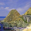 One of the many bridges connecting the Pacific Coast Hwy, south of Carmel CA, one of this country's most scenic drives.