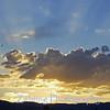 Sunset over Sierra Nevada Range.