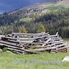 Remnants of what was probably an old linesman cabin, used by early cowboys as a shelter from the elements as they stood watch over the cattle herd. Meadows with perfect grazing areas can be seen all over the Sierra Range.