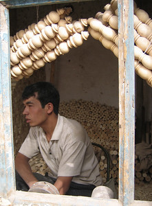 Man in his shop, old Kashgar