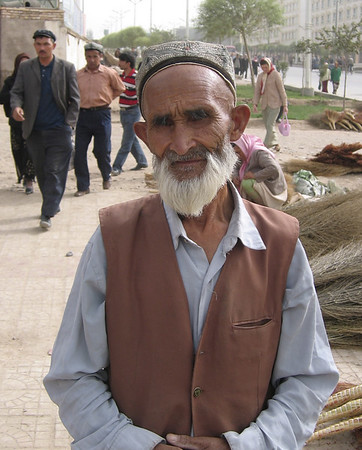 Man near bazaar, Kashgar, China