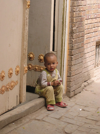 Boy in old part of Kashgar