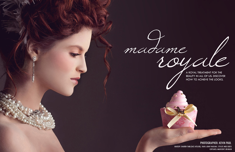 This image was the double-truck spread for a makeup and fashion editorial in Zooey Magazine. Lauren Lundeen was our model for the shoot. Sharon Tabb was the makeup artist. Jenny Hausam was the hair stylist. Meg Guess Couture was the fashion coordinator. The cupcakes were from Madison's on Main.