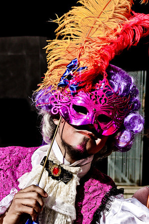 Valparaiso, Chile- Valparaiso, Chile - This thespian is ready for the carnival festivities in Valparaiso.