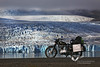 My Royal Enfield in front of Breiðamerjökull, south Iceland. Summer 2008.