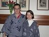 Trying on kimonos