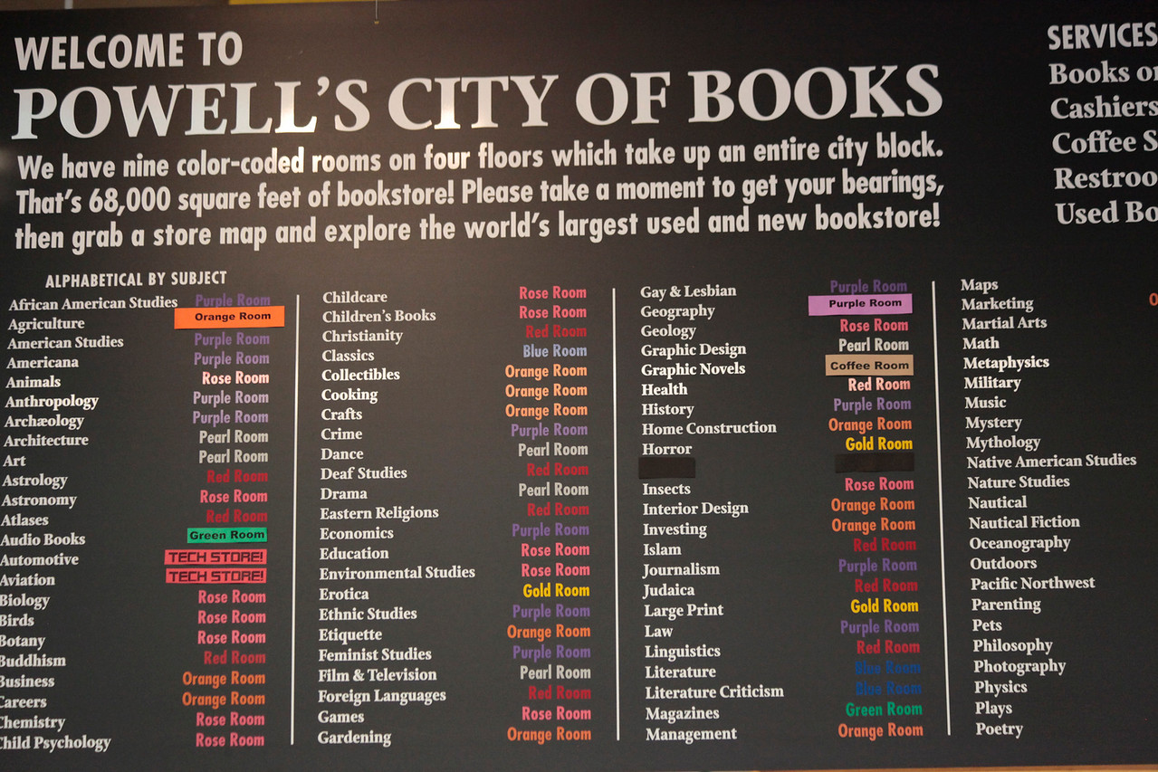 Portland, Oregon :: Powell's City of Books :: October 2009