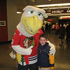 Max with Portland Winterhawks mascot