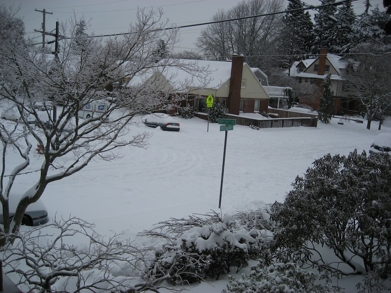 Our intersection -- our mailman came every day!