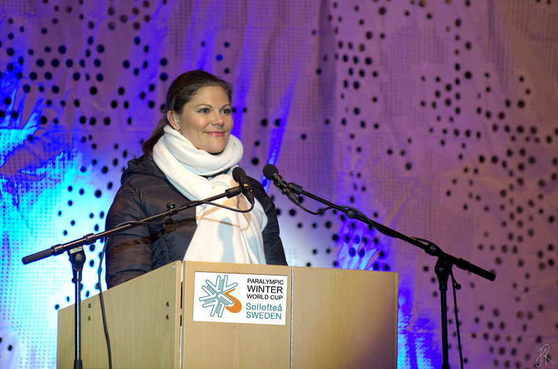 Kronprinsessan Victoria inviger Paralympic WInter World Cup i Sollefteå 2011